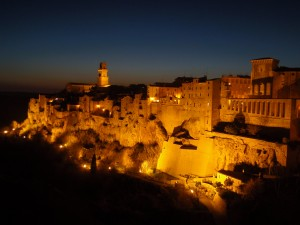 Night view of Pitigliano